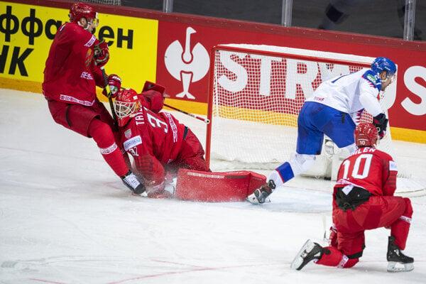 Slovak national ice hockey team defeats Belarus at the Olympic Sports Centre, Riga, Latvia, on May 21, 2021.