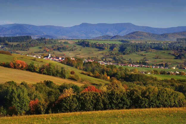 The Banská Bystrica Geopark landscape.