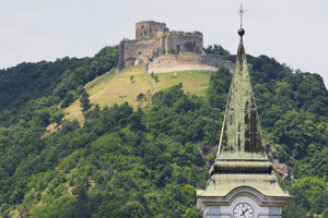 The castle above the Kapušany village in the Prešov Region.