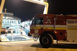Slovak firefighters arrived in Greece to help with the wildfires.