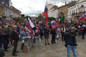 Protest organised by the far right MPs of Republika