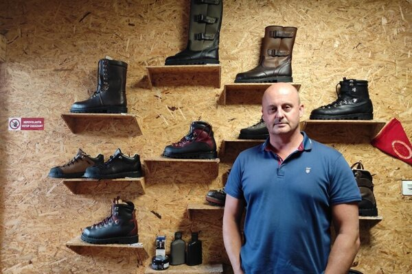 Vladimír Makara has been producing hand-sewn shoes for tourists, climbers, foresters and hunters since 2004.