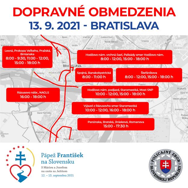Traffic limitations on September 13, 2021