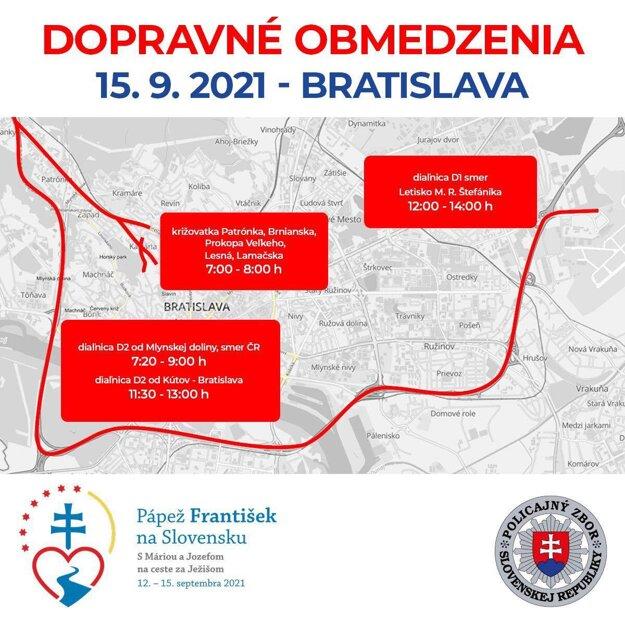 Traffic limitations in Bratislava on September 15.