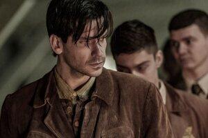 "Actor Noël Czuczor portrays Alfréd Wetzler in ""The Auschwitz Report""."