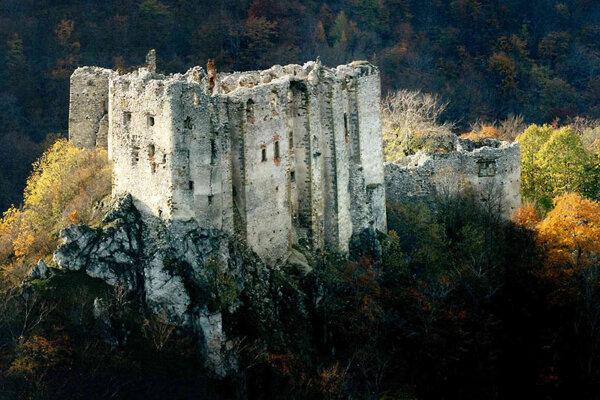 Uhrovec Castle is hidden amid the Strážovské Vrchy mountains.