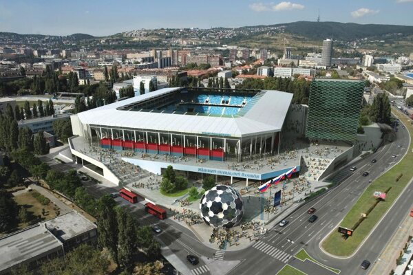 The National Football Stadium project in Bratislava is supposed to boost Slovakia's economy.