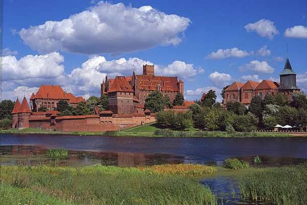 The Gothic castle at Malbork in Poland.