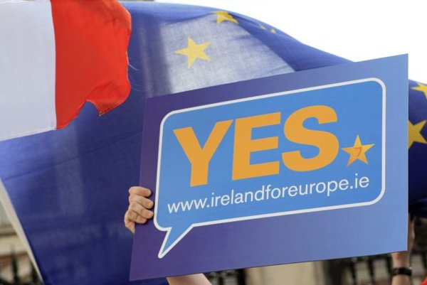 Irish voters approved the Lisbon Treaty on October 2.