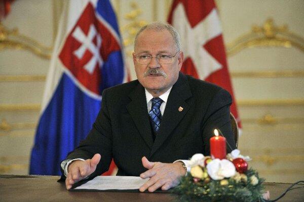 President Ivan Gašparovič addresses the nation.
