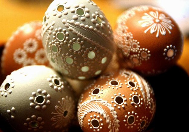 Easter egg decorations from Stará Bystrica.