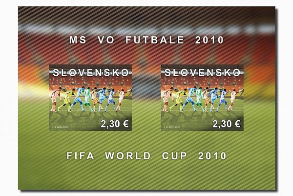 Slovakia's World Cup stamp issue. Photo