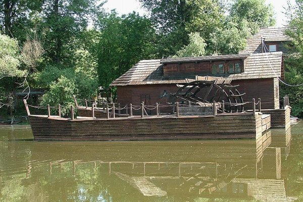 This unique floating mill in Kolárovo is one of only three remaining in all of Europe.