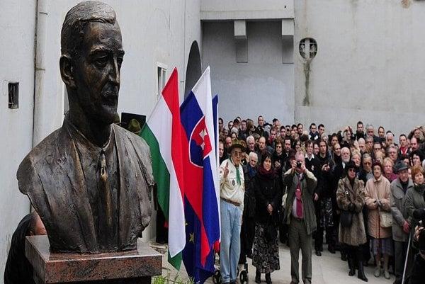 Esterházy's bust was unveiled in Košice on March 14.