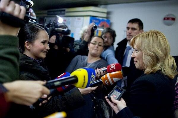 One political analyst called Radičová a 'good-news messenger'.