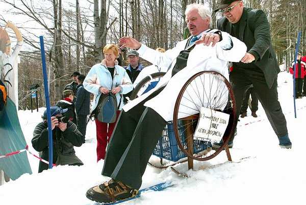 No complaining: Skalka's 'Carnival on Snow'.
