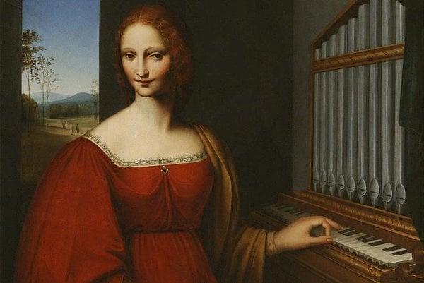 Saint Cecilia, by an unknown artist.