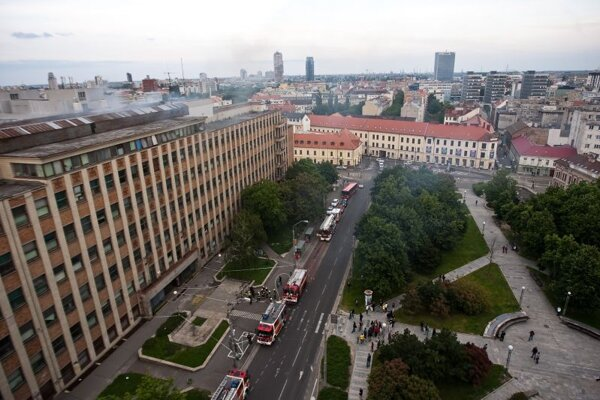 The Slovak University of Technology's building of the Faculty of Chemical and Food Technology caught on fire.