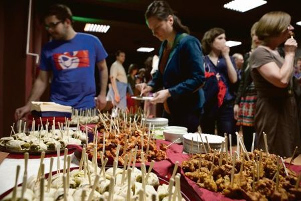 People got to taste various foods during the festival.