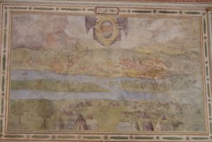 The veduta of Bratislava in Florence after restoration.
