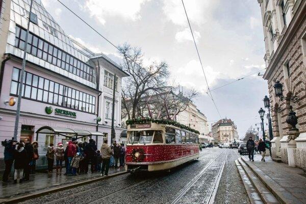 Bratislava's Christmas tram.