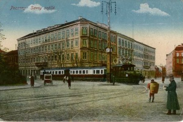The Vienna tram as depicted in a historical postcard.