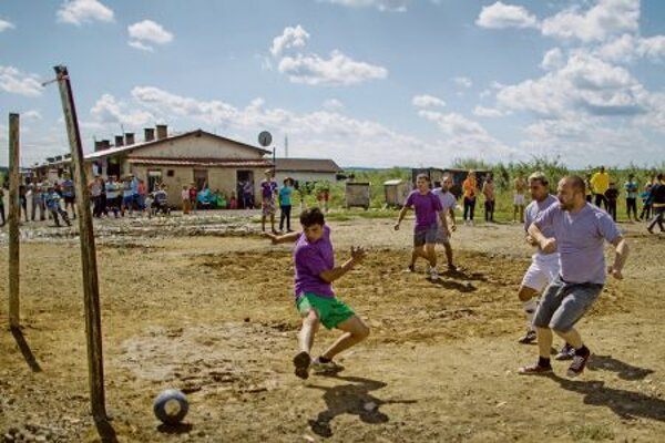 Except for the concert, there were several alternative events held in Budulovská, including a football match.