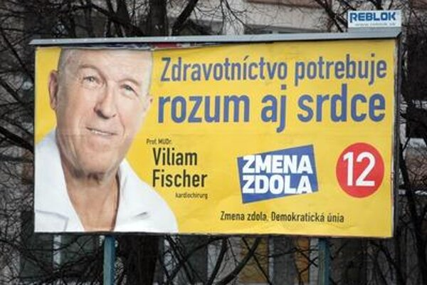 Viliam Fischer's billboards in presidential campaign.