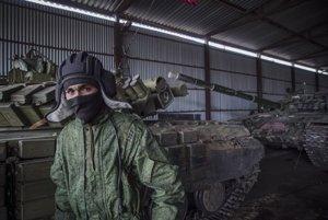 Ukrainian separatists, illustrative stock photo.