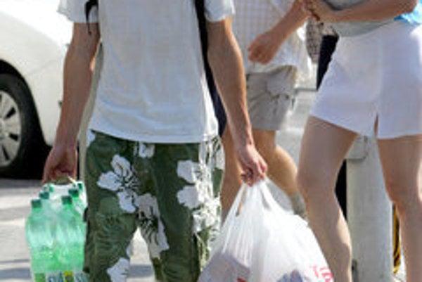 Plastic bags are popular, illustrative stock photo