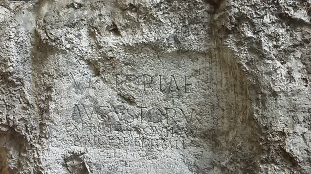 The Roman inscription in Trenčín