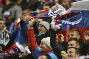 The Slovak fans