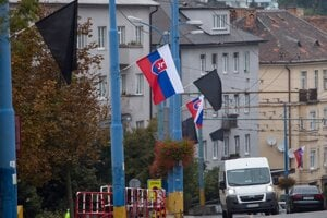 State mourning in the streets of Bratislava.