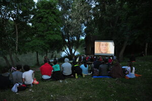 Cinema at the lighthouse in Zálesie