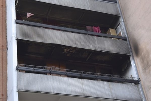 The block of flats in Dúbravka, destroyed by fire.