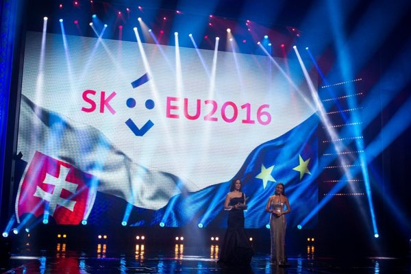 The ceremonial launch of the Slovak presidency's logo.