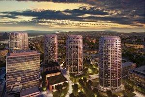 Visualisation of the Sky Park project by Zaha Hadid in Bratislava.