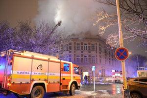 Extinguishing the fire at UPJŠ in Košice, December 9.