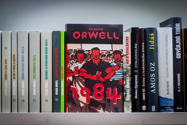 George Orwell in Slovak bookstores