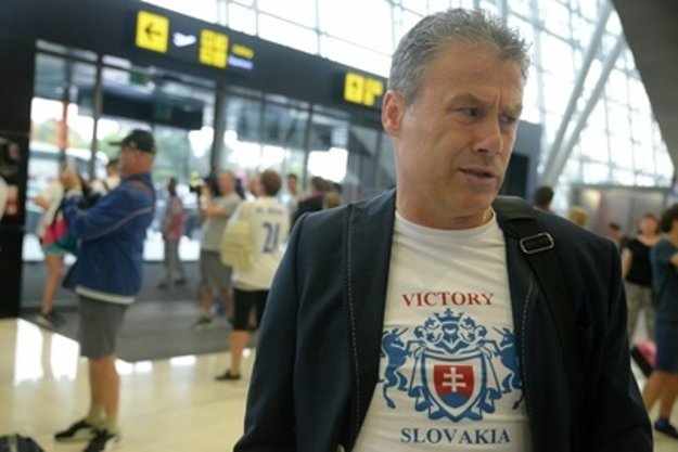 Coach Pavel Hapal returning from the European Under-21 Championship in Poland, June 25.