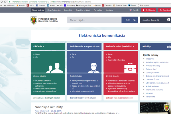 The official website of the Financial Administration.