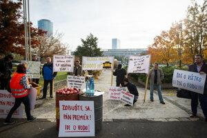 Protest in Vrakuňa