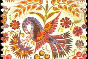 Folk Painting Vajnory, Stamp
