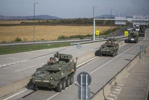 US convoy, illutsrative stock photo