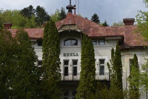 National Cultrual Monument - the hotel named originally Széchényi, then Slávia, and now Dukla, in the Bardejov Spa.