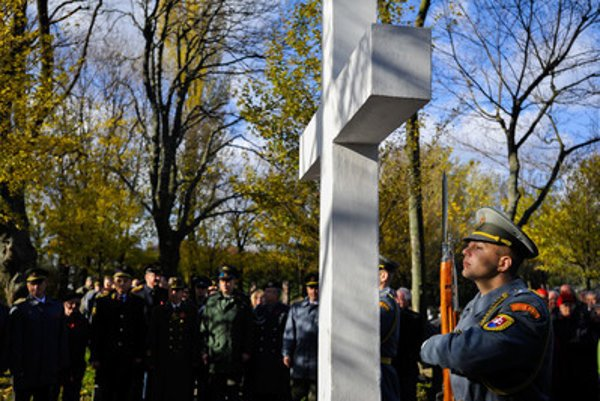 The commemorative feast on International veterans Day, at war cemetery in Petržalka-Kopčany, November 11.