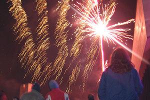 New Year Eve's firework, Prešov