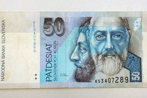 50 Slovak crowns banknote