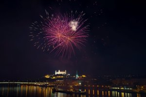 New Year´s Eve fireworks in Bratislava