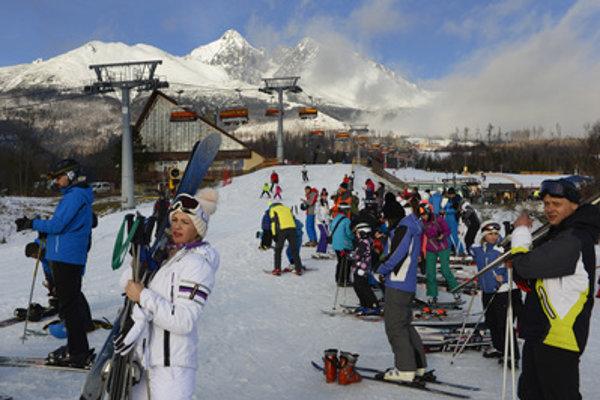 Skiing on January 7 in Tatranská Lomnica